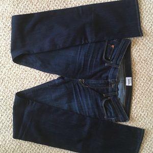 HUDSON Sz27 Dark Wash Straight Leg Jeans